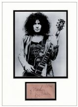 Marc Bolan Autograph Signed Display - T. Rex